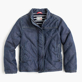 J.Crew Girls' quilted chambray jacket