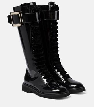 Roger Vivier Viv' Rangers patent leather knee-high boots