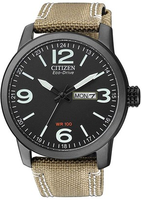 Citizen Men's Eco-Drive Global Collection Black Dial Watch, 40mm