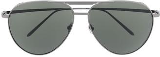 Linda Farrow Carter aviator frame sunglasses