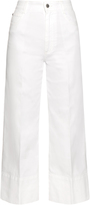 Stella McCartney High-rise wide-leg cropped jeans