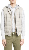 Eleventy Slim Fit Hooded Quilted Vest
