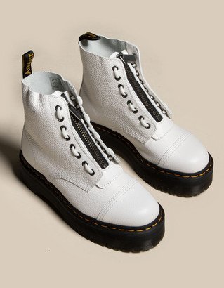 Dr. Martens Sinclair Leather Womens White Platform Boots