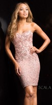 Scala Sweetheart Sequin Form Fitting Cocktail Dress