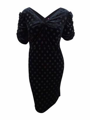 Betsey Johnson Women's Size Polka Dot Velvet Burnout Dress (Plus)