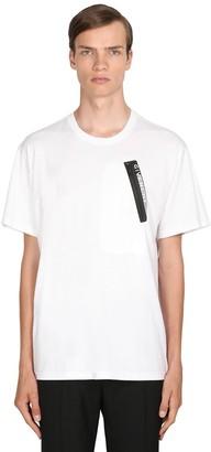 Givenchy Cotton Jersey T-Shirt W/ Logo Zip