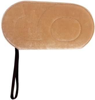 Maison Margiela Beige Velvet Clutch bags