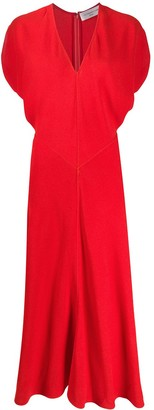 Victoria Beckham flared V-neck midi dress