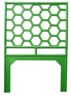David Francis Furniture Honeycomb Open-Frame Headboard Color: Bright Green, Size: Twin