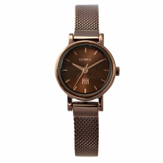 OWL Women's Analogue Japanese Quartz Watch with Stainless Steel Strap A6MB