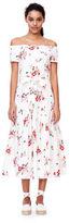 Rebecca Taylor Off-The-Shoulder Marguerite Floral Jersey Dress