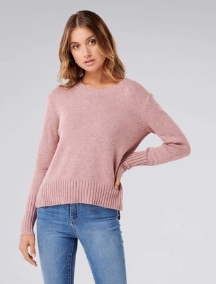 Forever New Emma Crew Neck Jumper - Dusty Pink - l