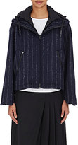 Cédric Charlier Women's Layered Hooded Jacket-NAVY
