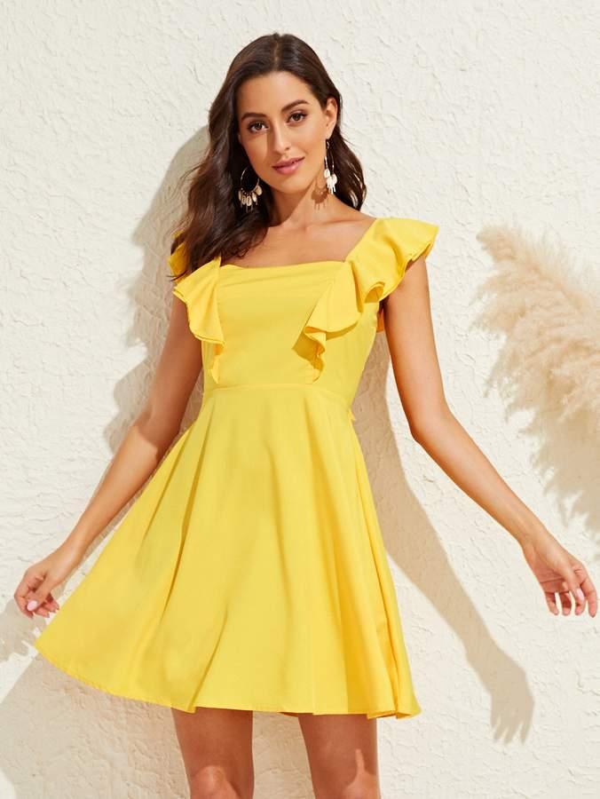 adce1f33b6 Shein Tie Back Dresses - ShopStyle