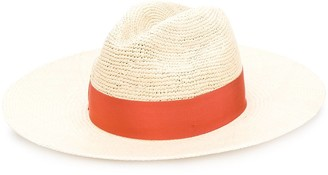 Borsalino Woven Ribbon Hat