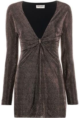 Saint Laurent Short Stud-Embellished Dress