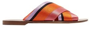 Diane von Furstenberg Bailie Color-block Satin Slides