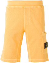 Stone Island patch pocket track shorts