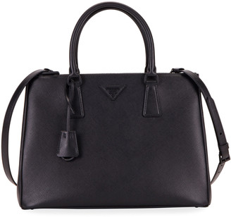Prada Galleria Medium Saffiano Dual-Zip Satchel Tote Bag