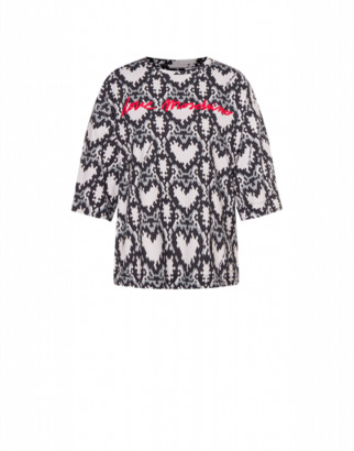 Love Moschino Jersey T-shirt Python Hearts