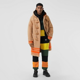 Burberry ogo Graphic Coour Bock Cotton Trackpants
