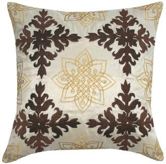 """Entryways Embroidered Medallion Throw Pillow - 18""""x18"""""""