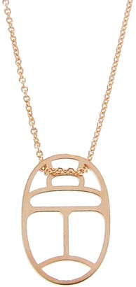 ginette_ny Mini Scarab Wish on Chain Necklace - Rose Gold