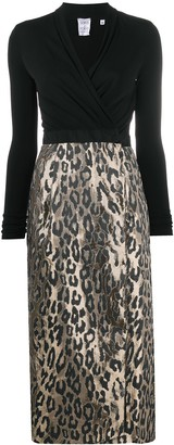 Sara Roka Convertible Buttoned Wrap Dress