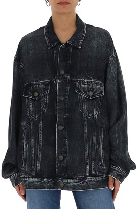 Balenciaga Oversized Acid Wash Denim Jacket