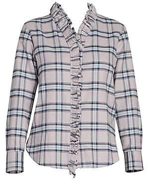 Etoile Isabel Marant Women's Awendy Plaid Ruffle-Front Shirt