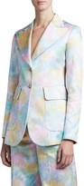 Marc Jacobs Runway) Floral Brocade Long Slim Blazer