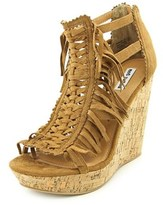 Not Rated Honey Buns Women Open Toe Synthetic Tan Wedge Sandal.