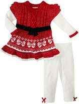 Little Lass 2 Piece Sweater Set (Baby) - Red Bow-3-6 Months