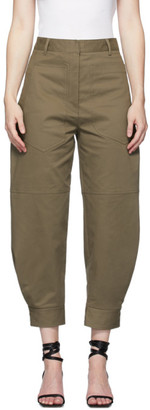 Tibi Brown Myriam Sculpted Trousers