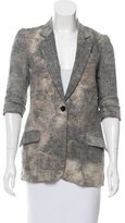 Elizabeth and James Distressed Linen Blazer