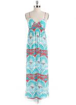 Eight Sixty Printed V-Neck Maxi Dress