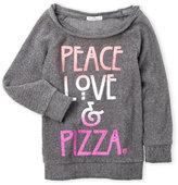 Dirtee Hollywood Girls 7-16) Peace Love & Pizza Fleece Pullover