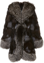 Anna Sui Silver Fox Fur Coat