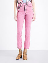Marc Jacobs Pink Flood straight high-rise jeans