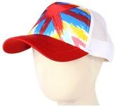 San Diego Hat Company Kids - Kids' British Flag Trucker (Little Kids) (Red) - Hats