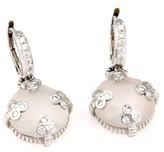 Judith Ripka White Gold Rock Crystal & Diamond Earrings
