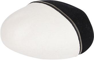 CA4LA Black And White Wool Blend Beret