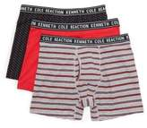 Kenneth Cole New York Reaction Kenneth Cole Three Pack Boxer Briefs - Men's - Lgyht/hblu/mstp