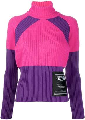 Versace colour block jumper