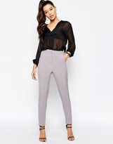 Missguided Pintuck Cigarette Pant