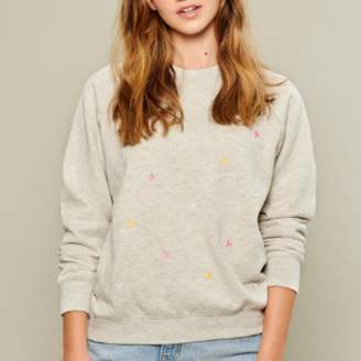 South Parade Rocky Stars Sweater in Light Heather Grey - M - Grey