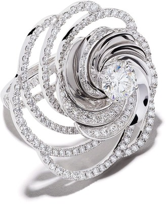 De Beers 18kt white gold Aria diamond cocktail ring
