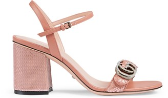Gucci Women's mid-heel sequin sandal