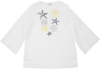Il Gufo Embroidered Cotton Muslin Shirt