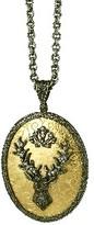 Arman Large Oval Deer Pendant - 22 Karat Gold